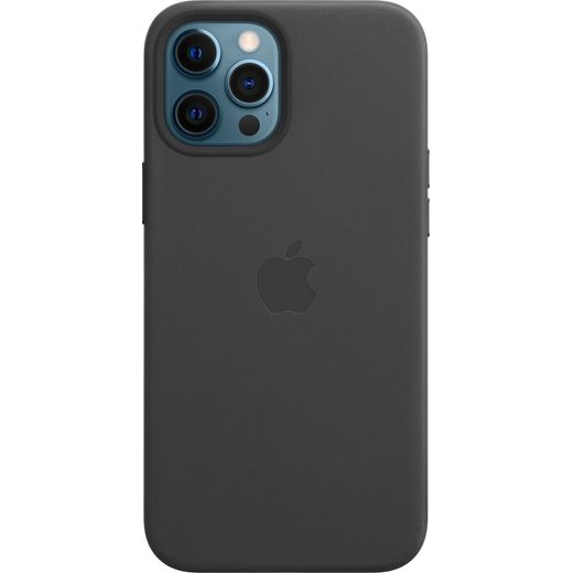 Apple Leather Case for iPhone 12 Pro Max - Black
