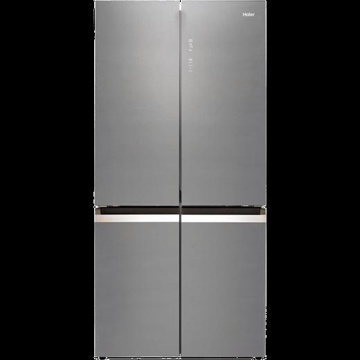 Haier HTF-540DGG7 American Fridge Freezer - Grey / Glass - F Rated
