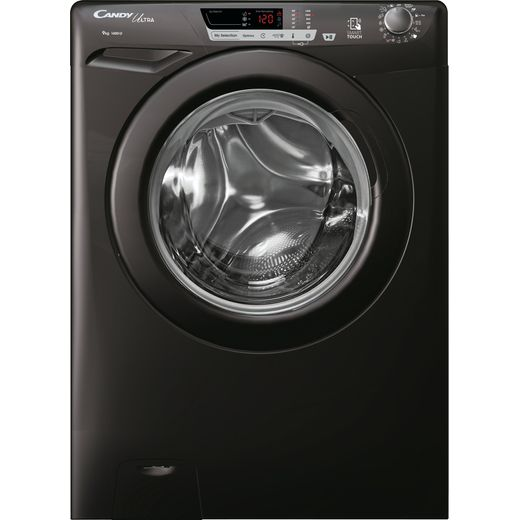 Candy Ultra HCU1492DBBE/1 9Kg Washing Machine with 1400 rpm - Black - D Rated
