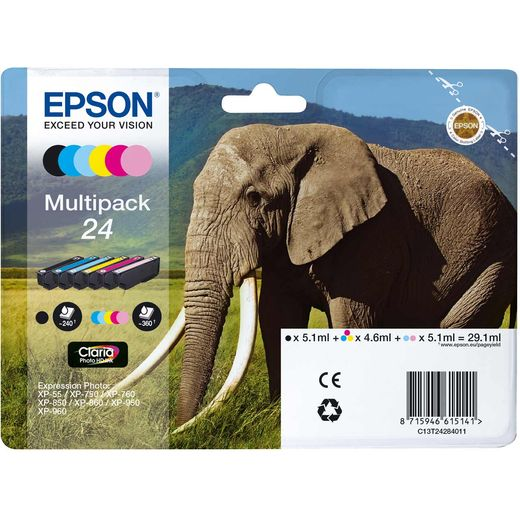 Epson Elephant Multipack 6-colours 24 Claria Photo HD Ink Cartridge