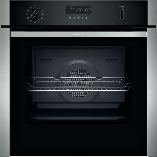 NEFF N50 Slide&Hide® B4ACM5HH0B Built In Electric Single Oven - Stainless Steel - A Rated