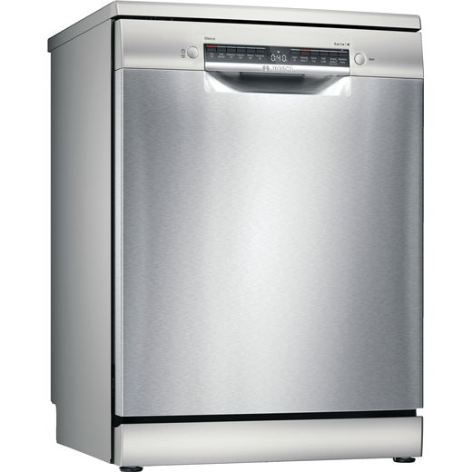 Bosch Serie 4 SMS4HAI40G Wifi Connected Standard Dishwasher - Stainless Steel Effect - D Rated