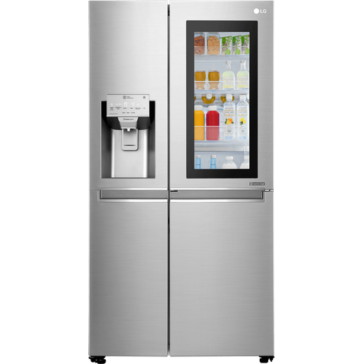 LG InstaView™ Door-in-Door™ GSX960NSVZ Wifi Connected American Fridge Freezer - Stainless Steel - F Rated