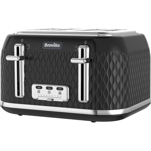 Breville Curve VTT786 4 Slice Toaster - Black / Chrome