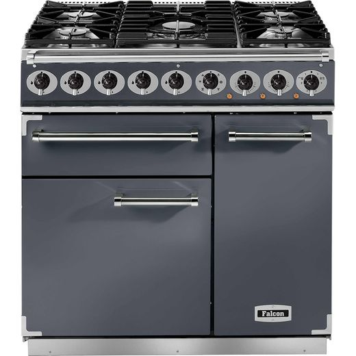 Falcon 900 DELUXE F900DXDFSL/NM 90cm Dual Fuel Range Cooker - Slate - A/A Rated