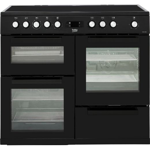 Beko KDVC100K 100cm Electric Range Cooker with Ceramic Hob - Black - A/A Rated