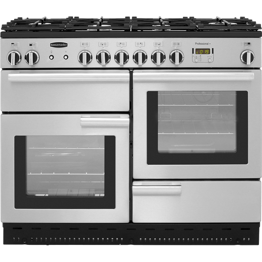 Rangemaster Professional Plus PROP110NGFSS/C 110cm Gas Range Cooker - Stainless Steel - A+/A+ Rated