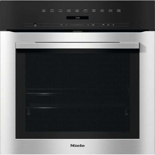 Miele ContourLine H7162BP Built In Electric Single Oven - Clean Steel - A+ Rated