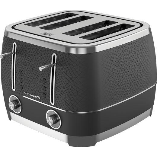 Beko TAM8402B 4 Slice Toaster - Black Glass