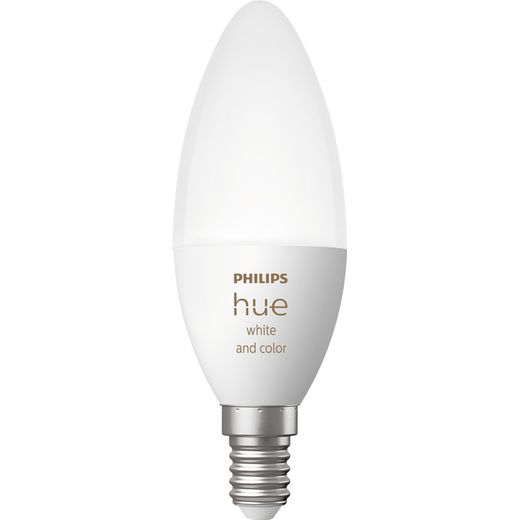 Philips Hue White and Colour E14 Smart Bulb - A+ Rated