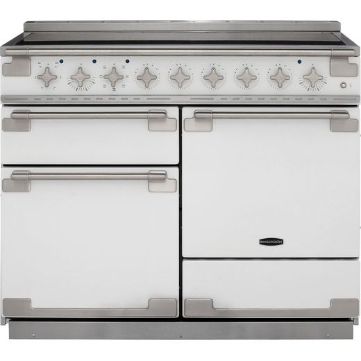 Rangemaster Elise ELS110EIWH 110cm Electric Range Cooker with Induction Hob - White - A/A Rated