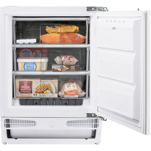 Belling FZ609 Integrated Under Counter Freezer with Fixed Door Fixing Kit - F Rated