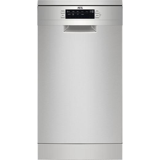 AEG FFB73517ZM Slimline Dishwasher - Stainless Steel - D Rated