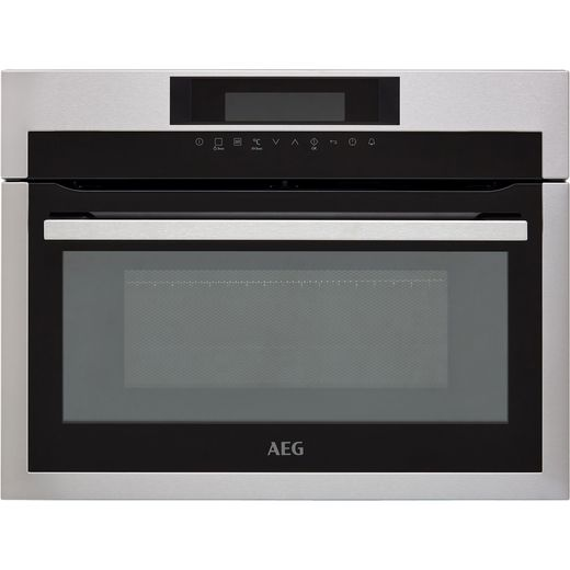 AEG KME761000M Built In Compact Electric Single Oven with Microwave Function - Stainless Steel