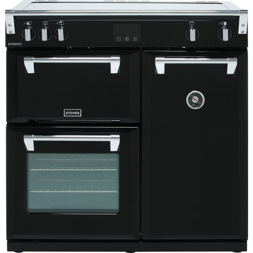 Stoves Richmond S900Ei 90cm Electric Range Cooker with Induction Hob - Black - A/A/A Rated