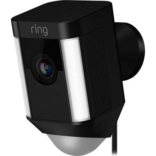Ring Spotlight Cam Wired Network Surveillance Cam - Full HD 1080p - Black
