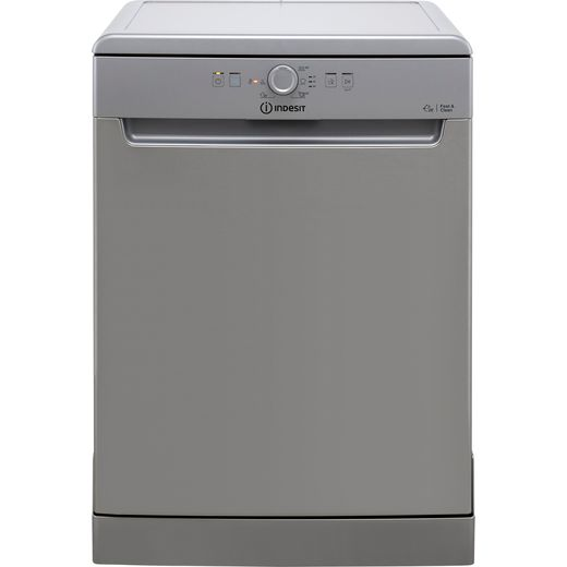 Indesit DFE1B19XUK Standard Dishwasher - Stainless Steel - F Rated