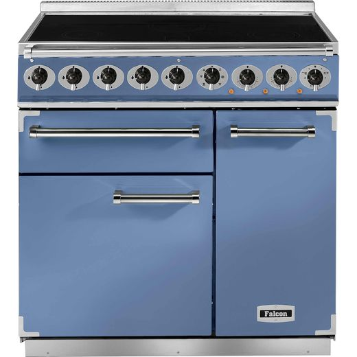 Falcon 900 DELUXE F900DXEICA/N 100cm Electric Range Cooker with Induction Hob - China Blue - A/A Rated