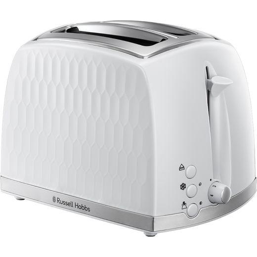 Russell Hobbs Honeycomb 26060 2 Slice Toaster - White