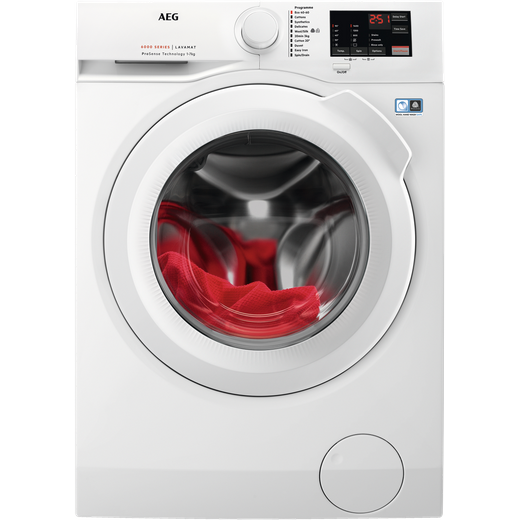 AEG ProSense Technology L6FBJ741N 7Kg Washing Machine with 1400 rpm - White - D Rated