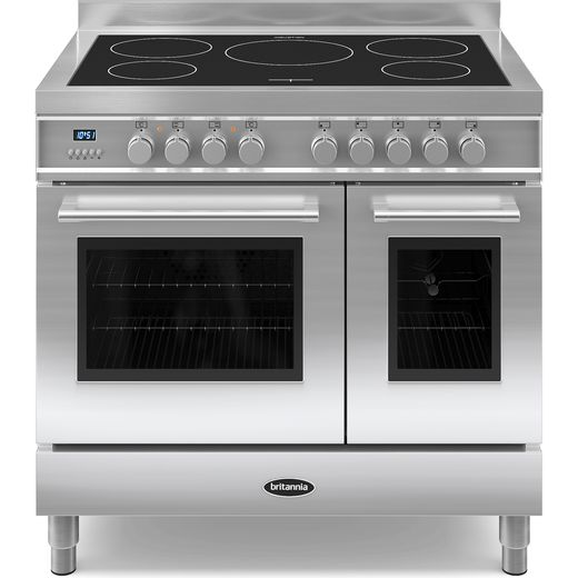 Britannia Q Line RC-9TI-QL-S 90cm Electric Range Cooker with Induction Hob - Stainless Steel - A/A+ Rated