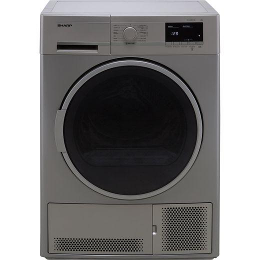 Sharp KD-GCB8S7GS9-EN Condenser Tumble Dryer - Silver