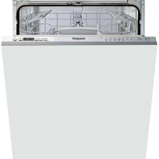 Hotpoint HIC3C26WUKN Fully Integrated Standard Dishwasher - Stainless Steel Control Panel with Fixed Door Fixing Kit - A++ Rated