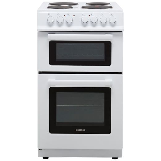 Electra TS50-1W Electric Cooker with Solid Plate Hob - White - A Rated