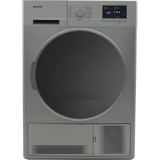 Sharp KD-GCB8S7GS9-EN Condenser Tumble Dryer - Silver - B Rated