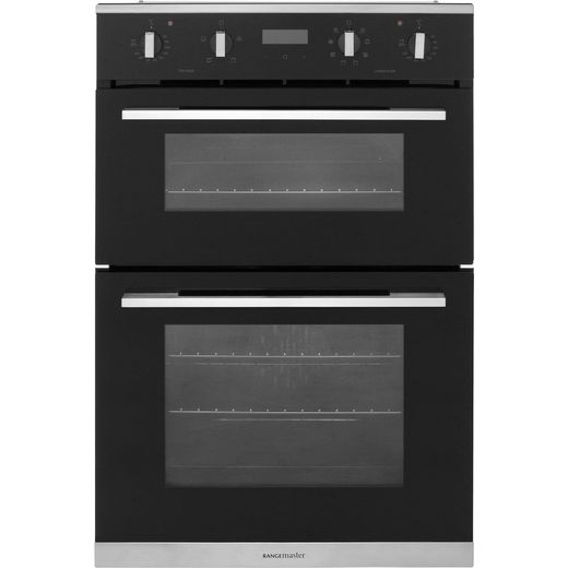 Rangemaster RMB9048BL/SS Built In Electric Double Oven - Black - A/A Rated