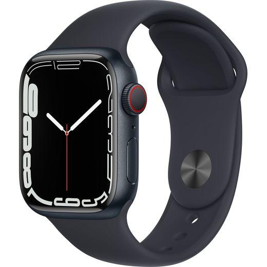 Apple Watch Series 7, 41mm, GPS + Cellular [2021] - Midnight Aluminium Case with Midnight Sport Band