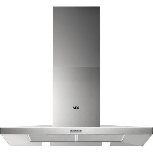 AEG DKB4950M 90 cm Chimney Cooker Hood - Stainless Steel - B Rated