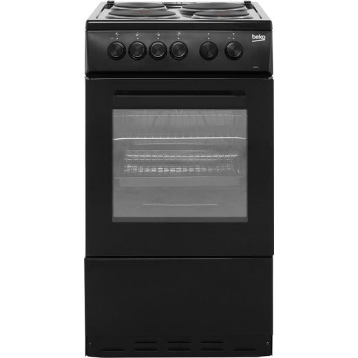 Beko AS530K 50cm Electric Cooker with Solid Plate Hob - Black - A Rated