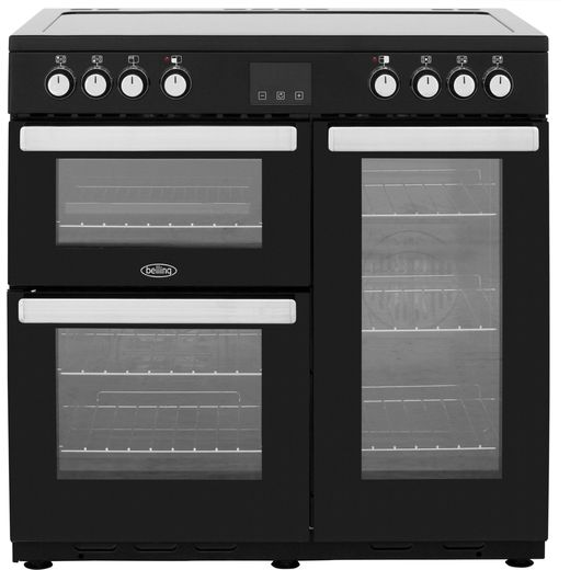 Belling Cookcentre90E 90cm Electric Range Cooker with Ceramic Hob - Black - A/A Rated