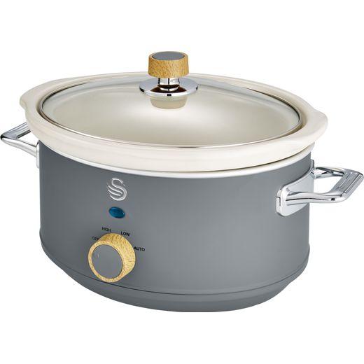 Swan Nordic SF17021GRYN 3.5 Litre Slow Cooker - Slate Grey