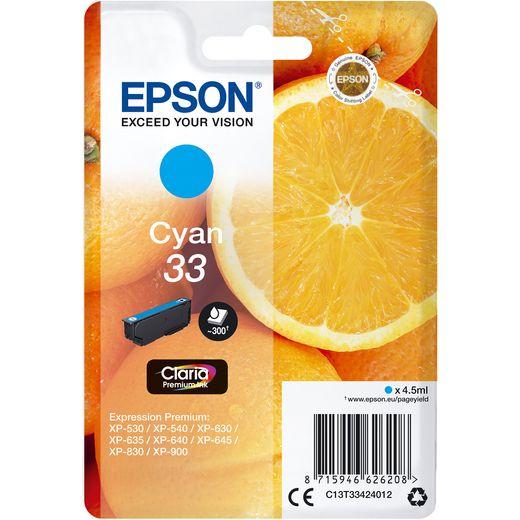 Epson Orange Singlepack Cyan 33 Claria Premium Ink