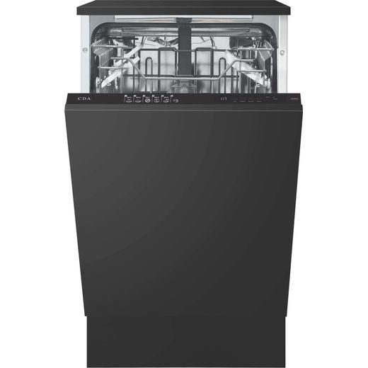 CDA CDI4121 Fully Integrated Slimline Dishwasher - Black Control Panel - E Rated