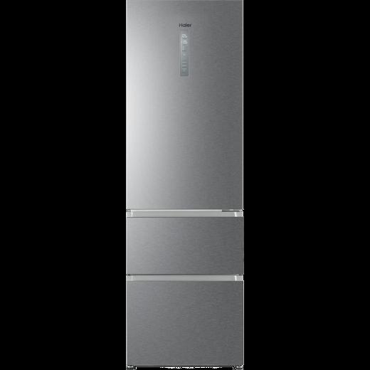 Haier HTR3619FNMP Fridge Freezer - Platinum Inox