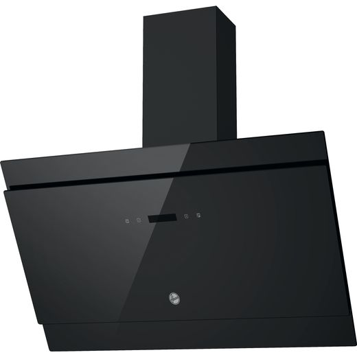 Hoover H-HOOD 500 HDG9DCK3B 90 cm Angled Chimney Cooker Hood - Black / Glass - A Rated