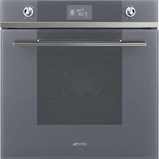 Smeg Linea SF6102TVS Built In Electric Single Oven - Silver