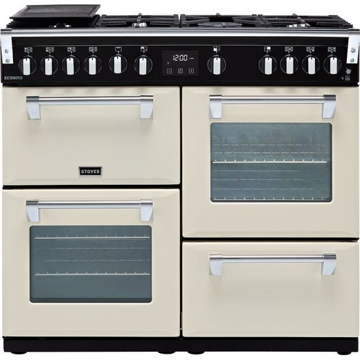 Stoves Richmond S1000G 100cm Gas Range Cooker with Electric Grill - Cream - A/A/A+ Rated