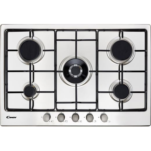 Candy CHW74WX 74cm Gas Hob - Stainless Steel