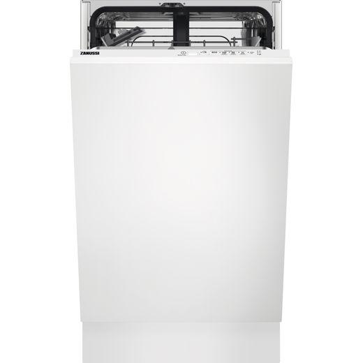 Zanussi ZSLN1211 Fully Integrated Slimline Dishwasher - Black Control Panel with Sliding Door Fixing Kit - F Rated