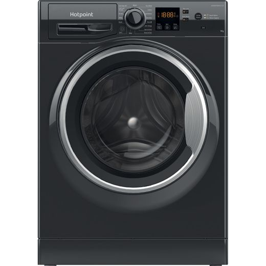 Hotpoint NSWM944CBSUKN 8Kg Washing Machine with 1400 rpm - Black - C Rated