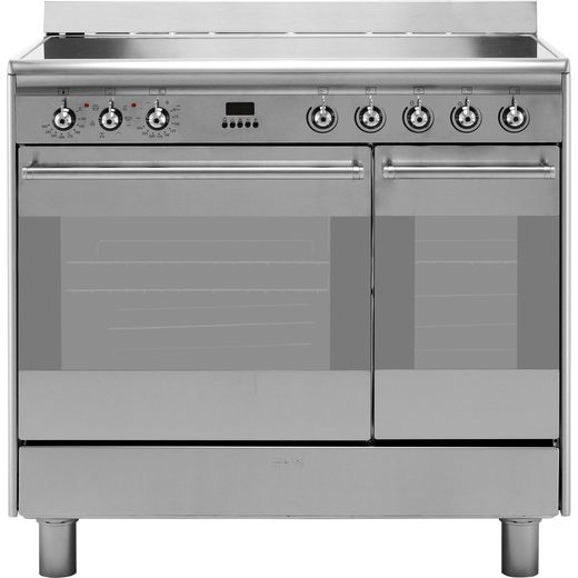 Smeg Concert SUK92CMX9 90cm Electric Range Cooker with Ceramic Hob - Stainless Steel - A/A Rated