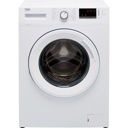 Beko WTK74151W 7Kg Washing Machine with 1400 rpm - White - D Rated
