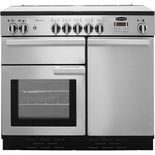 Rangemaster Professional Plus PROP100EISS/C 100cm Electric Range Cooker with Induction Hob - Stainless Steel - A/A Rated