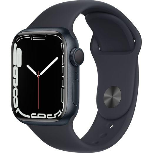Apple Watch Series 7, 41mm, GPS [2021] - Midnight Aluminium Case with Midnight Sport Band