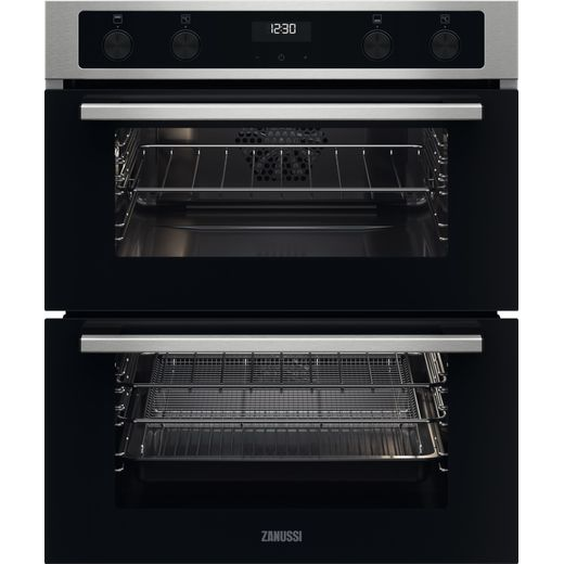 Zanussi ZPCNA4X1 Built Under Electric Double Oven - Black - A/A Rated