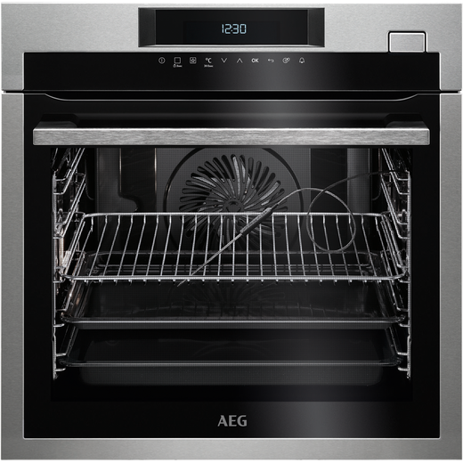 AEG Mastery BSE774320M Built In Electric Single Oven with added Steam Function - Stainless Steel - A+ Rated